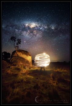 """Beam Me Up"" by Greg Gibbs, via 500px. A single shot taken with 30 second exposure."