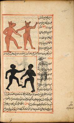 Creatures from the island of Zaneh. On the verso of leaf 75 in al-Qazwini's 'Ajā'ib al-makhlūqāt wa-gharā'ib al-mawjūdāt, NLM call number MS P 1.