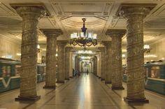 Saint Petersburg, Russia, Subway station