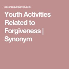 Children's Object Lesson on Forgiveness Group Therapy Activities, Leadership Activities, Youth Activities, Leadership Coaching, Bible Object Lessons, Bible Lessons For Kids, Catholic Sacraments, Childrens Sermons, Children's Church Crafts