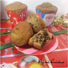 Muffins de Noel saveurs banane noisette cannelle miel et pépites de chocolat #Companion - Mimi Cuisine