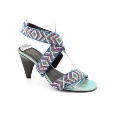 Amazon.com: Donald J Pliner Tisa-BD60 Open Toe Strappy Shoes Blue Womens: Shoes