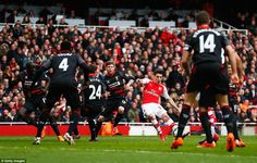 Bellerin broke the Emirates deadlock for Arsenal, cutting in from his native right-hand si...