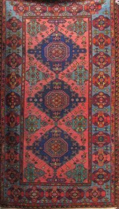 Tribal rug Soumak from Dagestan, vintage rug from 1960s, Bohemian rug, boho rug, oriental rugs, berber rug, living room decor