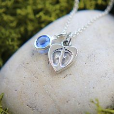 Sterling Silver Baby Feet Charm Necklace New by JewelleryJKW