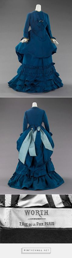 Afternoon dress by House of Worth ca. 1872 French | The Metropolitan Museum of Art