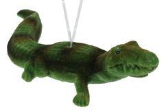 Flocked Gator ornament #gator #ornament