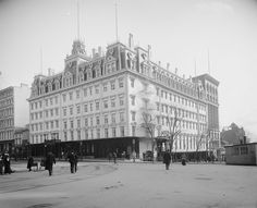 1903 -- The old Old Ebbitt House.  The first two floors were the restaurant.  The rest was a hotel.  At 14th and F.
