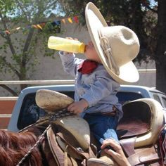 Every cowboy needs a drink.
