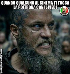 Vikings Ragnar Lothbrok Travis Fimmel The older and crazier they made the character the hotter he became. Ragnar Lothbrok Vikings, Ragner Lothbrok, Vikings Show, Vikings Tv Series, Viking Life, Viking Warrior, Rey Ragnar, Bracelet Viking, Viking Jewelry