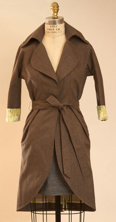 Fitted Trench Coat Dress made by anatomy