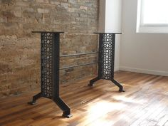 Elegant French Industrial Iron table desk base