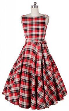 Vintage Plaid Dress  I love plaid dresses - though I don't really wear dresses :)