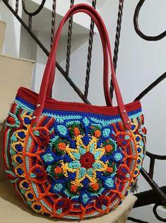 Crochet Placemats, Crochet Tote, Crochet Handbags, Crochet Purses, Cute Crochet, Crochet Stitches, Childrens Purses, Crochet Leaves, Diy Crafts Jewelry