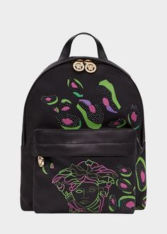 Young Versace Medusa Camoupard Backpack for Girls   US Online Store e043f1858f