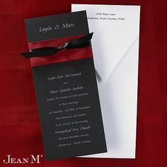 Natural Elegance Classic Invitation Claret Wedding Invitations