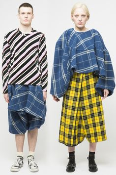 Comme des Garcon- seriously, do you know any guy who would wear that get up? Did someone do some dumpster diving or what...