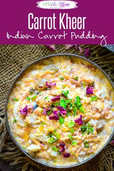 Carrot Kheer or Gajar ki Kheer is an Indian dessert made by cooking freshly grated carrots with milk. Here is how to make Carrot Kheer Recipe. Indian Carrot Recipes, Indian Dessert Recipes, Indian Sweets, Persian Recipes, Indian Kheer Recipe, Diwali Food, Okra, Arabic Dessert, Arabic Sweets