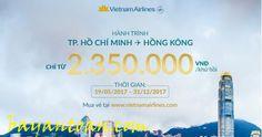 Vé Vietnam Airlines từ Tp. Hồ Chí Minh đi Hongkong giá 100 USD