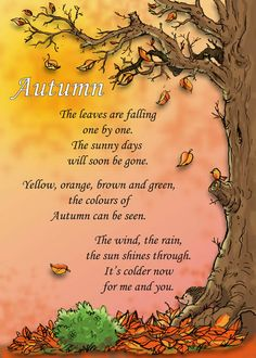 Good poem for circle time in Autumn :)