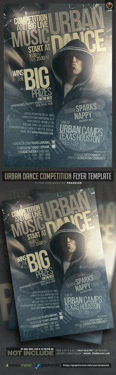 Urban Dance Competition Flyer Template — Photoshop PSD #dj #freestyle • Download ➝ https://graphicriver.net/item/urban-dance-competition-flyer-template/18849156?ref=pxcr