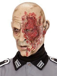 Máscara general guerra mundial zombie adulto Halloween: Esta máscara es de látex.Representa un rostro humano beige con heridas en el ojo izquierdo.Con esta máscara terrorífica darás el toque final a tus disfraces de...