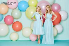 Ronald Joyce Bridesmaid Dress 29157 + 29158_020 - Blue, turquoise, teal, light blue maxi and mid-length bridesmaid dresses - Click to find out more!