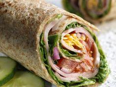 Vollkorn-Wraps mit Schinken und Gemüse
