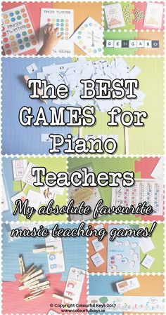 Equip your teacher toolkit with these essential piano teaching games. http://colourfulkeys.ie/essential-free-piano-teaching-games/