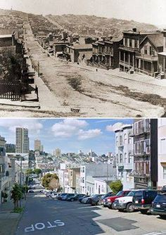 Vintage up date?: Old and new San Francisco San Francisco City, San Francisco California, San Francisco Earthquake, San Fransisco, Vacation Destinations, Vacations, Old Pictures, Bay Area, Places To Visit