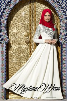 Muslima Wear 2015 White Cream