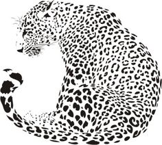 Leopard illustration (Panthera pardus) royalty-free leopard illustration stock vector art & more images of africa Stencil Patterns, Stencil Art, Stencils, Tattoo Leopard, Panthera Pardus, Scroll Saw Patterns, Free Vector Art, Vector Graphics, Free Vector Patterns