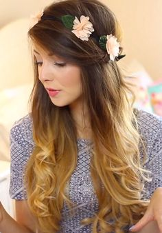 Curly Ombre Hair From The Back