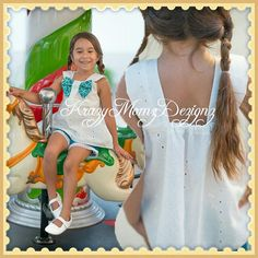 Girls tank and shorts with 18 inch doll dress by KrazyMomzDezignz, $48.50