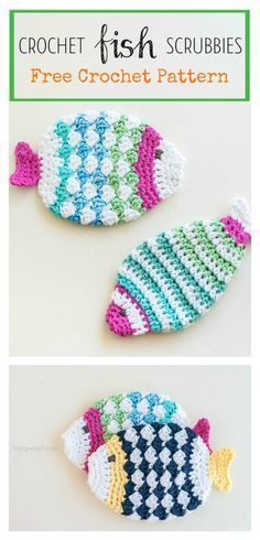 Fish Knitting Pattern Free A Few More Fish Theme Patterns To Crochet Free Grandmothers. Fish Knitting Pattern Free Crochet Tropical Fish Applique And . Diy Tricot Crochet, Crochet Mignon, Crochet Scrubbies, Knit Or Crochet, Crochet Gifts, Cute Crochet, Washcloth Crochet, Ravelry Crochet, Crochet Dish Towels