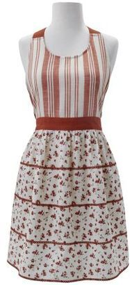 Love this mix of stripe and the calico floral print of the tiered apron! #apron #chef #affiliate