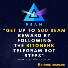 Beam Bitonetrade HK Ödül Botuna Katılın ve 3 Beam Kazanın! Free Rewards, Crypto Currencies, Blockchain, Good News, Beams, How To Make Money, Investing, Motivation, Searching