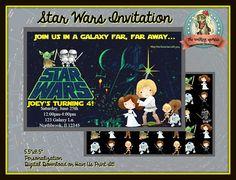 STAR WARS Printable Invitation Star Wars Invite Star Wars Personalized Invitations, Digital Invitations, Printable Invitations, Printable Party, Decoration, Invite, Star Wars, Shopping, Stars