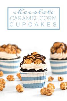 Chocolate Caramel Corn Cupcakes | Sprinkles for Breakfast