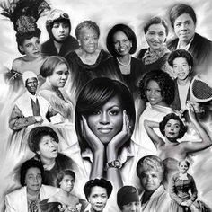 Strong black women collage   Found on Lisa Raye's page on Facebook