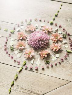En mandala. - 32 petits arrangements floraux - Elle Décoration