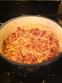 "Creole ""style"" Chicken & Sausage Jambalaya (use cauliflower rice in place of white rice)"