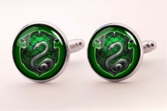 SLYTHERIN Cuff links, 0340CS from EgginEgg by DaWanda.com