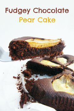 Rich, moist chocolate cake topped with slices of juicy pear. A combination made in heaven.