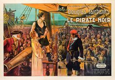 The Black Pirate - movie poster in French - starring DOUGLAS FAIRBANKS SR. released March 8, 1929