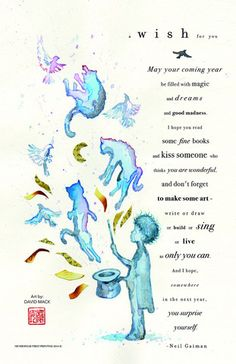 Neil's New Year's Wish limited edition print by David Mack – Neverwear