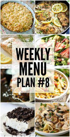 Weekly Menu Plan - y