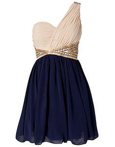 Two Color One Shoulder Dress by Little Mistress £46 [item#: 600435-0286]