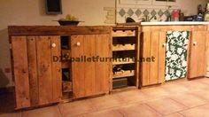 Muebles de palets: Cocina completamente amueblada con palets