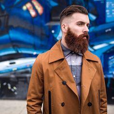 Levi Stocke - full thick darker red beard and mustache beards bearded man men mens' style fall winter fashion hairstyle hair so handsome ginger #goodhair #beardsforever